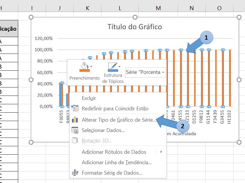 Curva ABC no Excel - Representação Gráfica 3