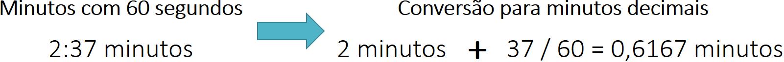 Conversão para tempo decimal